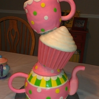 Tea Party This cake was for a sweet little girl in my class who was hit by a drunk driver last year and is paralyzed from the chest down. She is an...