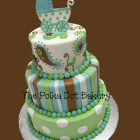 Landon's Baby Carriage   Another shower cake for my sweet baby boy due in 12 days!