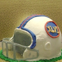 Football Helmet Cake Football helmet from an 8-inch two layer cake. In my series of 20 minute buttercream cakes for fun.