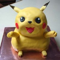 Pokemon  This is my DH's very first ever cake.. He made it for our daughters birthday. I only made the cake and filled with BC. He doweled it,...