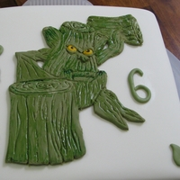 Stump Smash, Skylander Cake This is a cake I did for my son to take to school for his birthday, it is stump smash, one of the characters from the game skylanders.