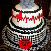 University Of Alabama Nursing Graduate Cake Made for a girl Graduating from the University Of Alabama Nursing School. The cake was Red velvet with Buttercream filling iced in...
