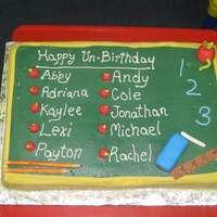 Class Unbirthday Cake Party