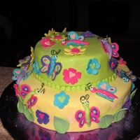Bright Butterflies   Bright Butterfly Cake for my daughters 7th bday