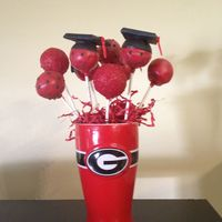 Cake Pops   Red Velvet UGA graduation Cake Pops