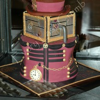 Steampunk  Steampunk inspired cake for a dessert table for Creative Arts Sunday at my church. Everything is done in fondant including pocket watch....
