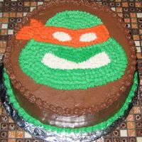 Teenage Mutant Ninja Turtle Teenage Mutant Ninja Turtle Michaelangeo Birthday cake.