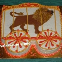 "Circus Lion Cage This creation consists of a 12x8 sheet and one 6"" round. There is slight carving on the top to create the 'train' top; the..."