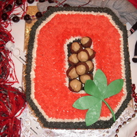 Groom's Cake   Chocolate cake, real butter buttercream..... cakeballs made to look like buckeyes, chocolate clay leaf.