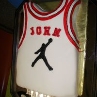 Basketball Jersey Pound cake with fondant .My husband is a basketball especially jordan`s fan. I took the idea of one of our CC`s members,her name is...