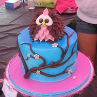 Owl Baby Shower Cake Got inspiration from several cakes on here. Alysia1982, in particular, was very helpful in creating the owl. Thanks! (You can see on his...