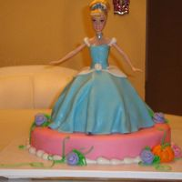 Cinderella Doll Cake My first doll cake and 3rd time working with fondant.
