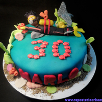 Scuba Dive Cake this cakes are my favorite themes.. al the algae and corals were made in fondant