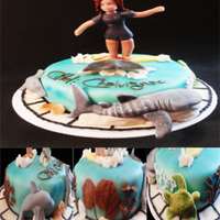Surfer And Photographer Cake the best part of making cakes is to make someones history in a cake, in this one i sculpted citlalli a real lady that has an amazing gift...