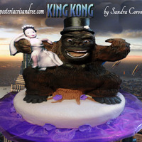 King Kong Wedding Cake this cake was such a great chalenge ! making the design for the bride that asked me to sculpt a king gong wedding cake!i wanted to make...