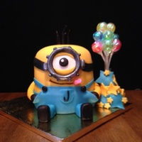Minion Birthday Cake Minion cake created for my niece Jacqueline's birthday. She LOVES the minions.