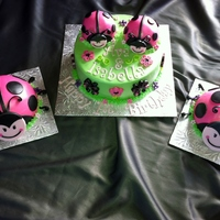 Lady Bug Cake And Smash Cakes For Twin Girls 1St Birthday Lady Bug cake and smash cakes for twin girls 1st birthday.
