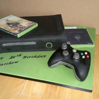 Black Xbox Cake black xbox cake with edible games and rice krispie controller