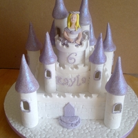 Castle Cake lilac castle cake all edible