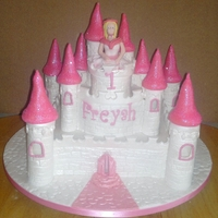 Castle Cake 2 tier castle cake with edible princess, towers and turrets