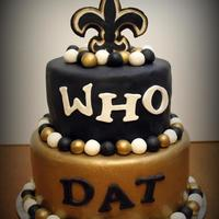 Who Dat I made this for my DH . all fondant