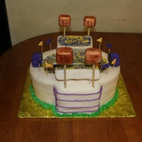 Death Valley scoreboard, lights, and stadium seats are rc covered in fondant