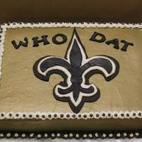 Who Dat 2 I made this for a friend all buttercream fondant accents