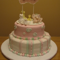 Melanie's Baby Shower Cake all made with fondant
