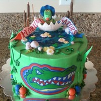 Florida Gator Baby Shower This was for an office baby shower. The recipient was a man & a Florida Gator fanatic. The U of F stadium is called The Swamp, so here...