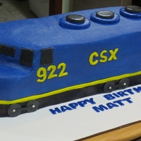 "Csx Train Birthday Cake CSX train birthday cake. This is pound cake baked in a 12x16 pan. The train ended up being 5 1/2"" W x 4 1/4 "" H x 16"" L...."