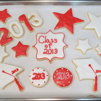 College Graduation Cookies Cookie set for a college graduate with his MBA.