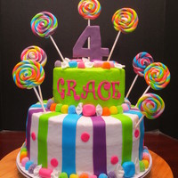 "I Had So Much Fun Doing This Bright And Colorful Birthday Cake All The Accents Are Made From Mmf I Love The Lollipops And Wrapped Candy I had so much fun doing this bright and colorful birthday cake. All the accents are made from MMF. I love the lollipops and ""wrapped..."
