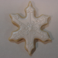 Winter Snowflake with Wilton Color Mist Pearl.