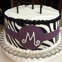 Zebra Stripe & Purple Made with Sugar Paper :)