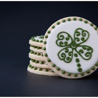 Shamrock Cookies Thanks to History in the Baking for the idea!