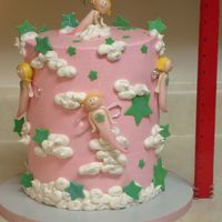 Fairies And Stars Made for my daughters 3rd B-day. Bc w/MMF accents. three layers w/coconut filling. Over 12 inches tall.