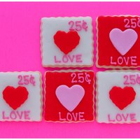 Cookie Stamps Cute LOVE stamps. Saw this idea on Pinterest.