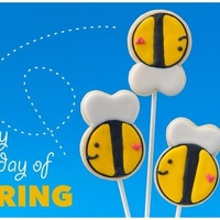 It's Spring! Go Crazy! Thanks to flourandsugarthoughts.blogspot.com for the awesome idea of these cute bees!!