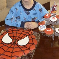 Spiderman Cupcake Cake And Cupcakes Spiderman Cupcake Cake and Cupcakes