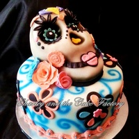 Sugarskull Birthday Cake Skull is made with rice krispy treats all edible design.