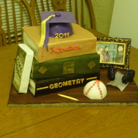 James' Grad Cake This is the result of Sharon Zambito's Book Smarts DVD. Highly recommend it! The cake was for my son's high school graduation. I...
