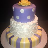 Christening Cake fondant covered Christening cake - would make a beautiful Mother's Day, or special birthday cake too!