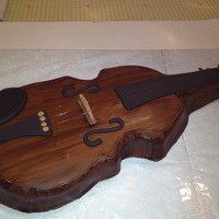 Violin Cake Covered In Fondant Details Violin cake - covered in fondant details