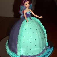 Doll Cake Chocolate cake, filled and frosted in buttercream.