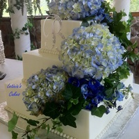 Hydrangeas   Smooth BC, bead border and God's beautiful flowers