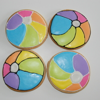 Beach Ball Cookies For a summer theme birthday partyNFSC w/ Antonia's RITFL