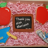 Teacher Appreciation Cookies For my kids teachers. NFSC w/ Antonia's RLTFL