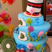 Dr Seuss Cake All Decorations Made Of Fondant Dr. Seuss Cake - All decorations made of fondant