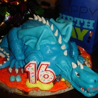 Dragon Triple threat chocolate with choco buttercream anf fondant
