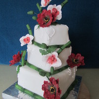 Wedding Oriental themed cake